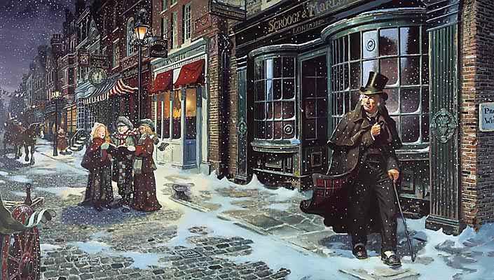 A Christmas Carol eftir Charles Dickens kom út um miðja 19. öld, en þá var 0,8 gráðum kaldara en í dag.